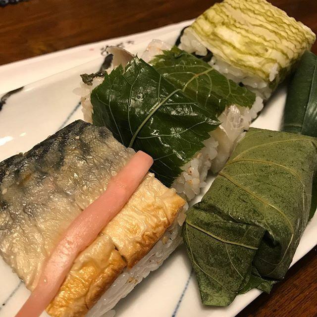 とっても美味しい押し寿司頂きました!