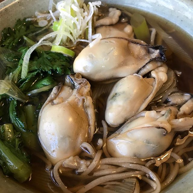 新メニュー️「牡蠣そば」