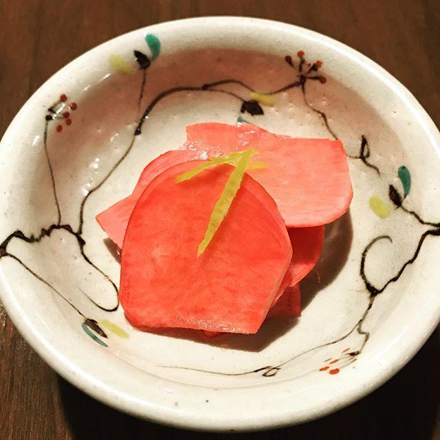 赤かぶの甘酢漬け私の大好物!